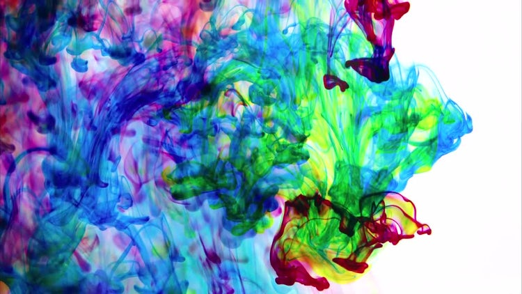 Colourful Ink Mixture : Stock Video
