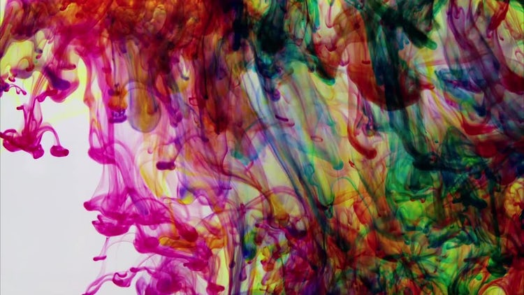 Colourful Ink In Water Background: Stock Video