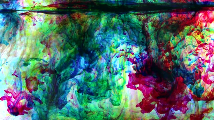 Swirling Color Ink In Water: Stock Video