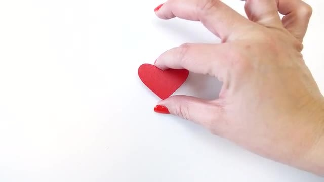 Heart On A White Background: Stock Video