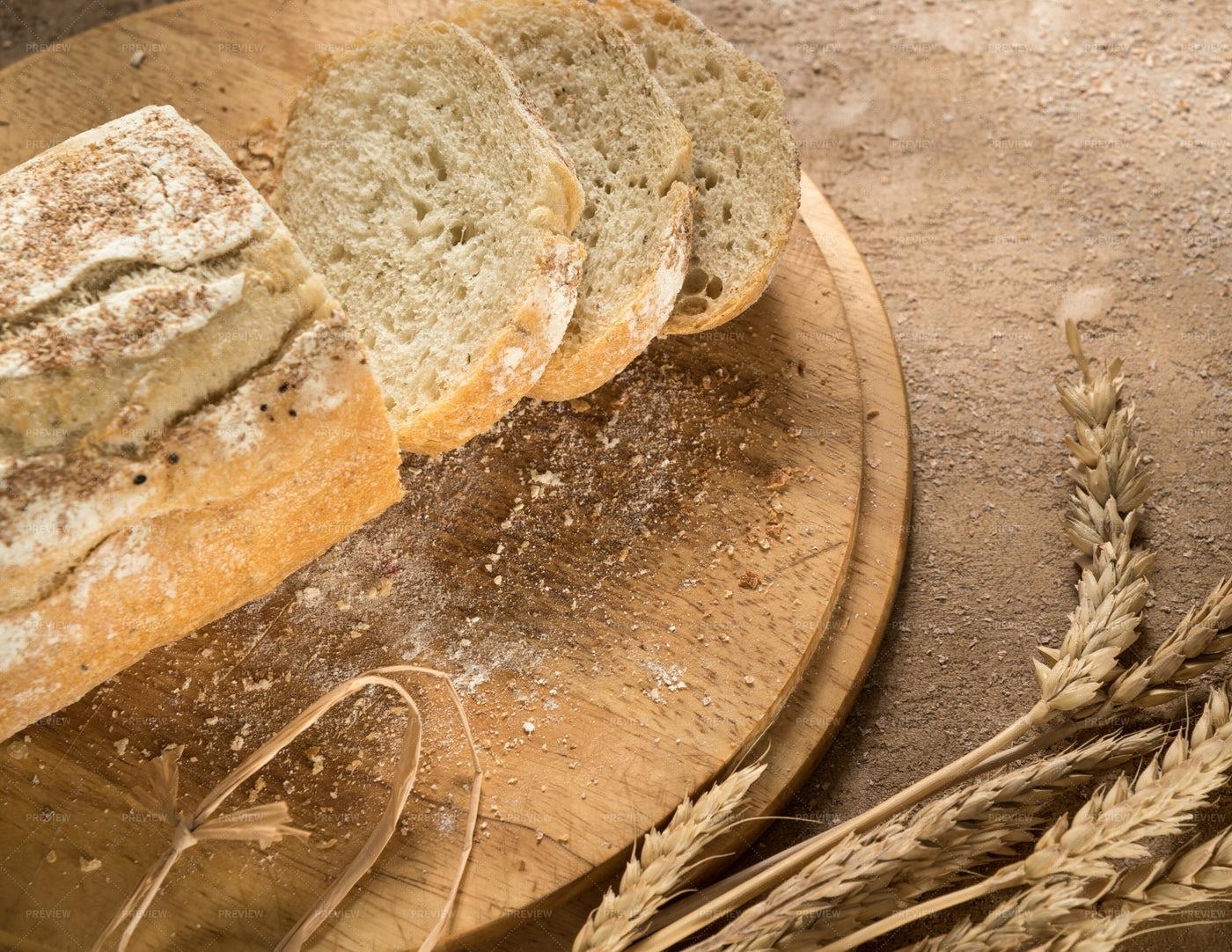 A Sliced Bread Loaf: Stock Photos