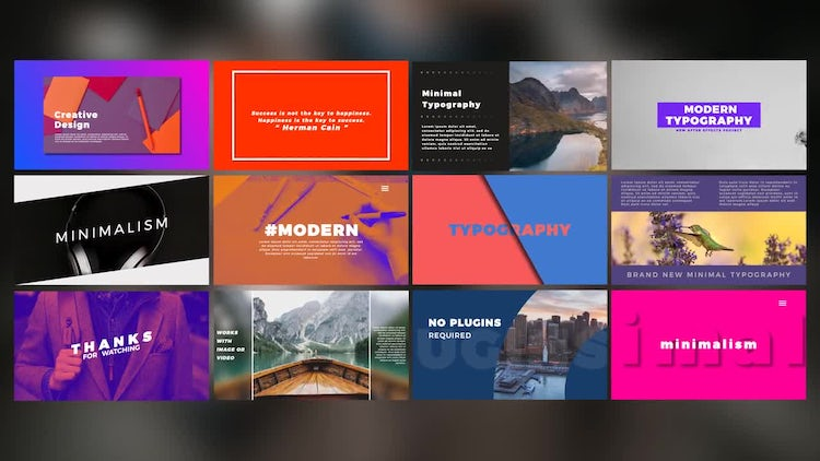 Modern Typography: After Effects Templates