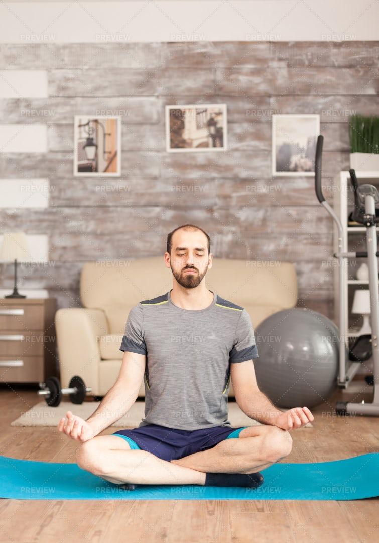 Yoga With Eyes Closed: Stock Photos