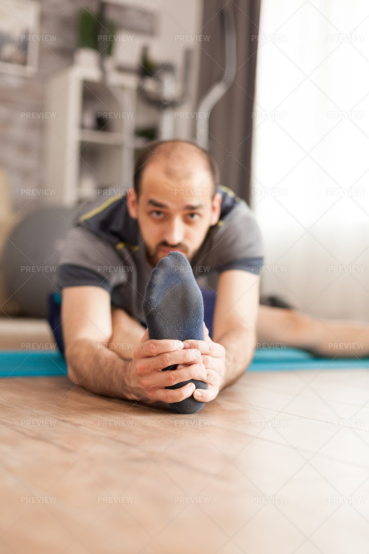 Stretching His Legs: Stock Photos