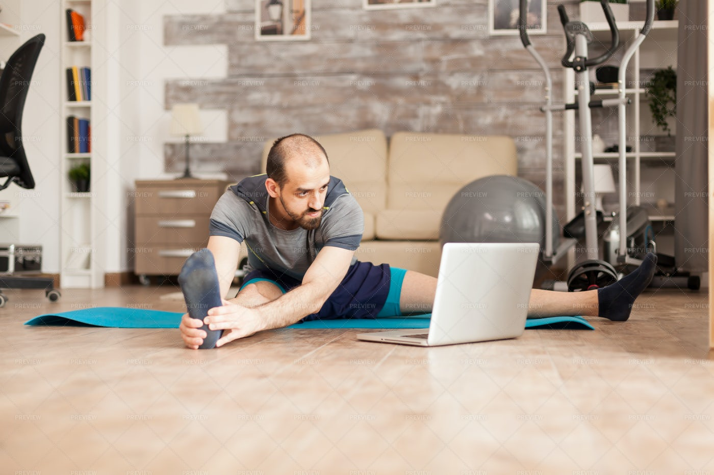 Learning How To Stretch: Stock Photos