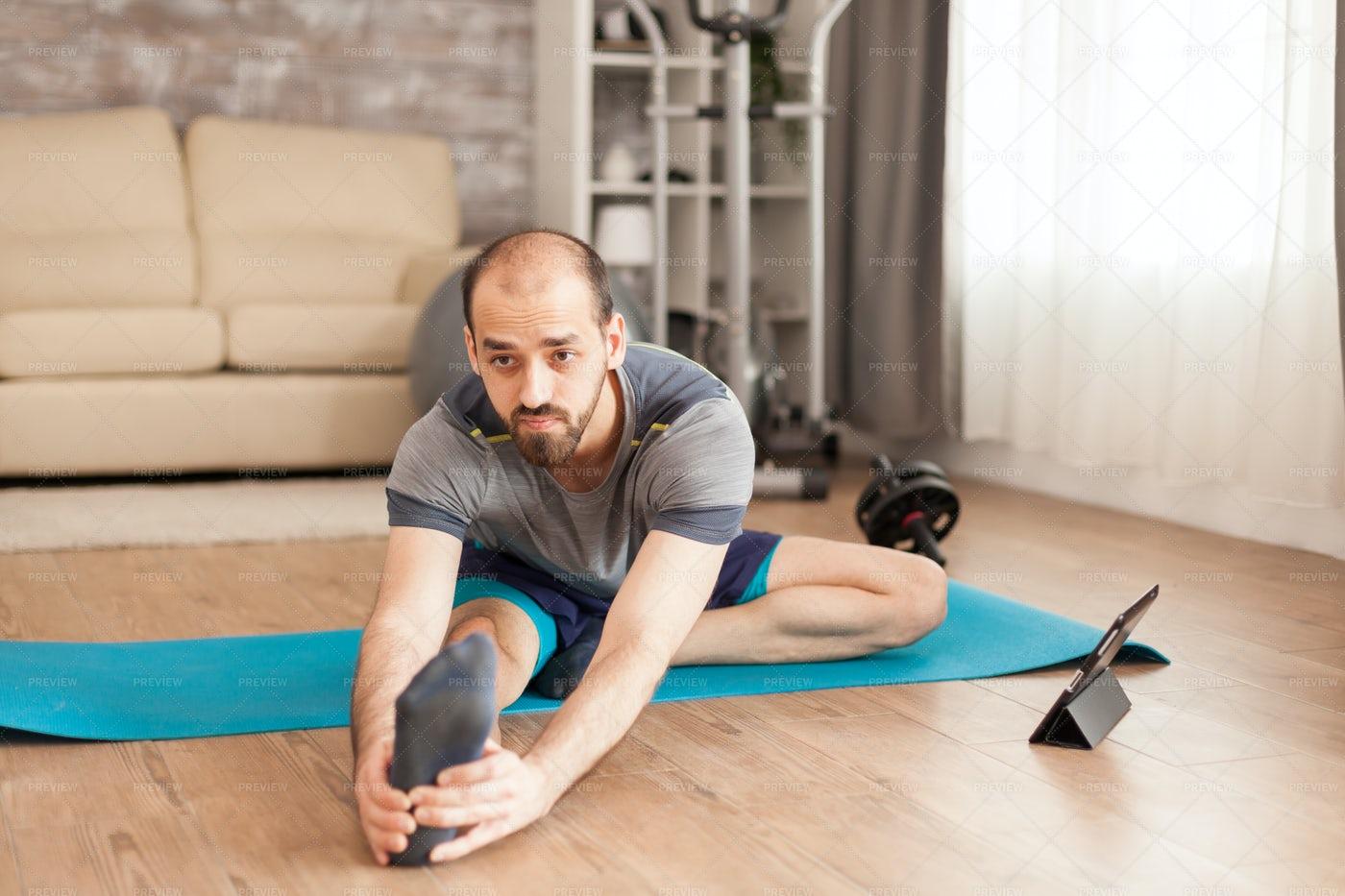 Home Yoga Course: Stock Photos