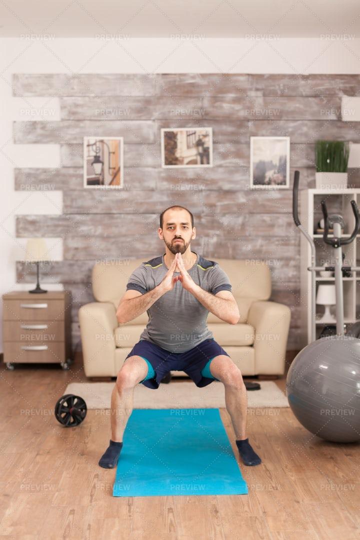 Home Leg Workout: Stock Photos