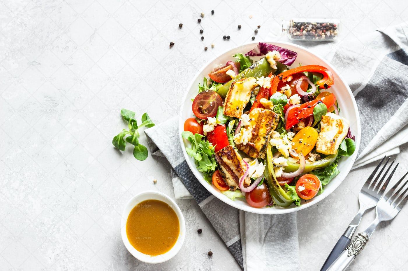 A Salad Dinner: Stock Photos