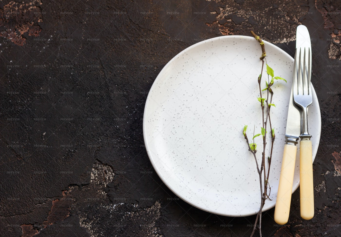 Plate And Cutlery: Stock Photos