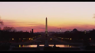 George Washington Monument Time-lapse: Stock Video