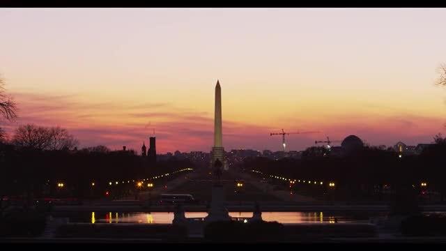 George Washington Monument Time-lapse: Stock Video