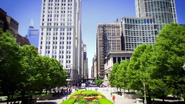 Chicago Millennium park Time-lapse: Stock Video