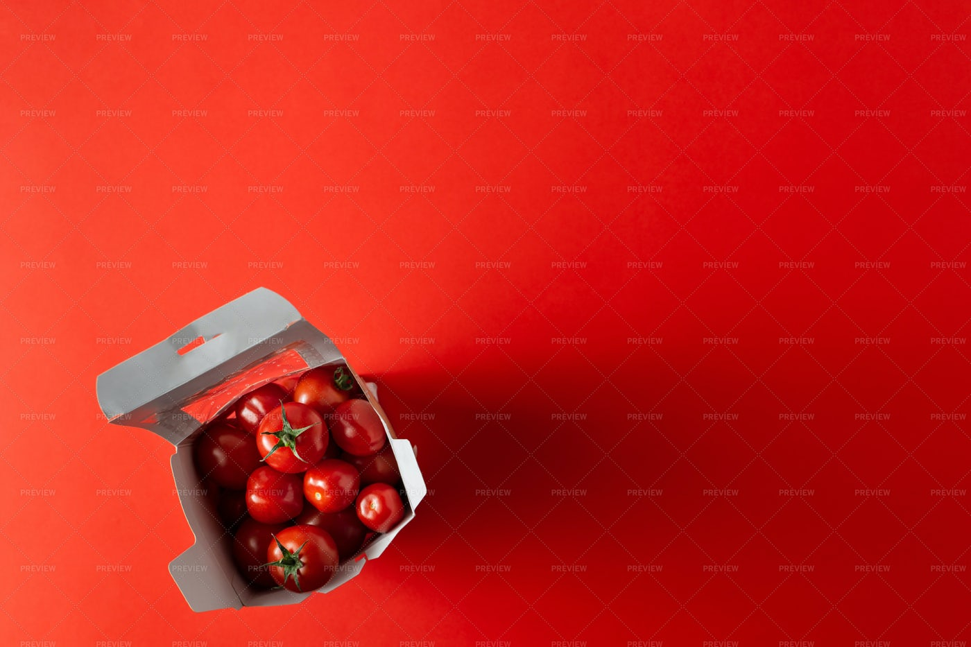 Boxed Cherry Tomatoes: Stock Photos