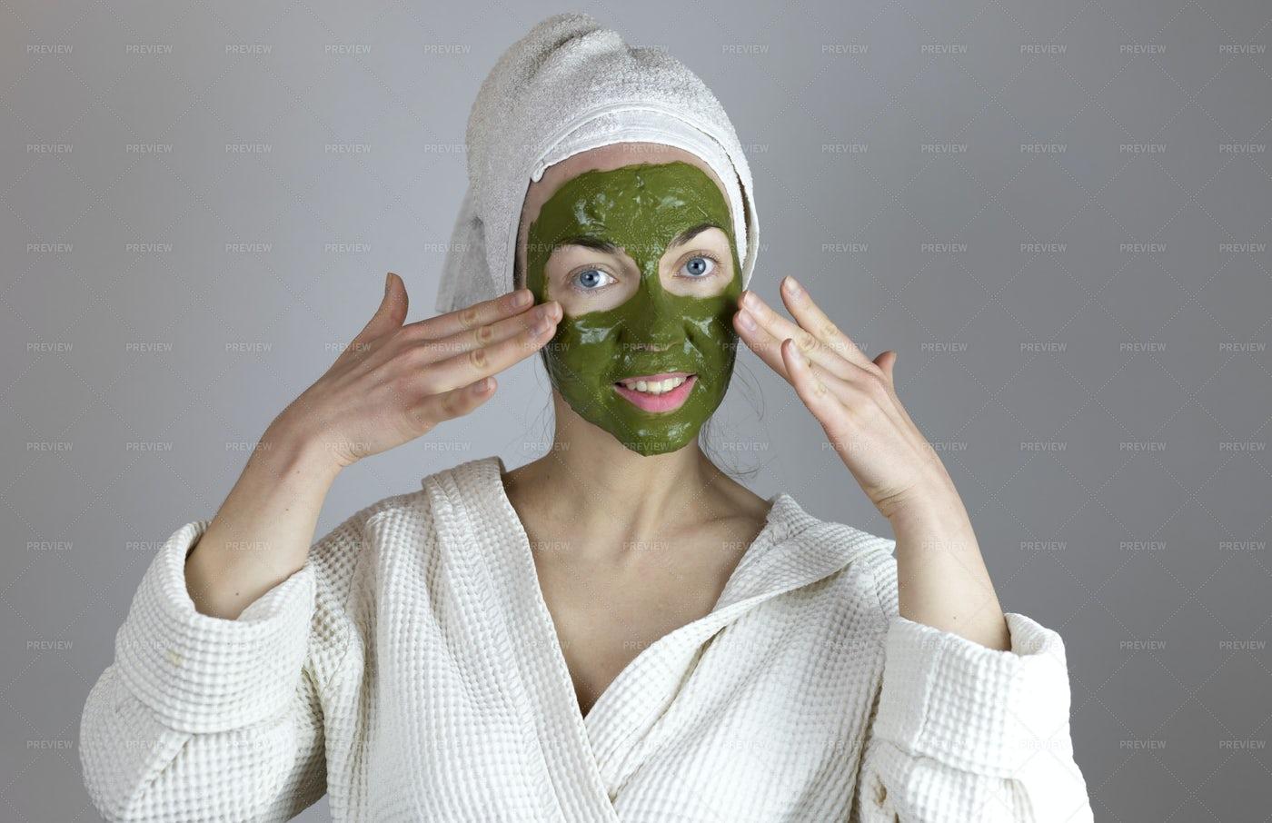 Woman With Face Mask: Stock Photos