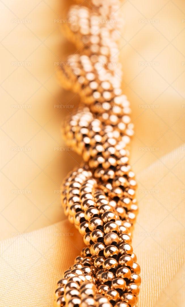 Big Golden Necklace: Stock Photos