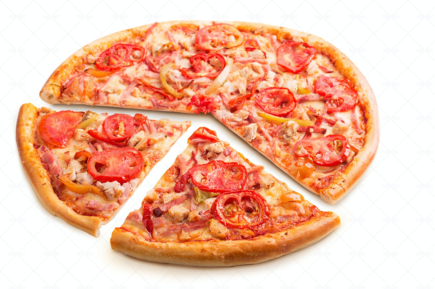 Pizza With Vegetables: Stock Photos