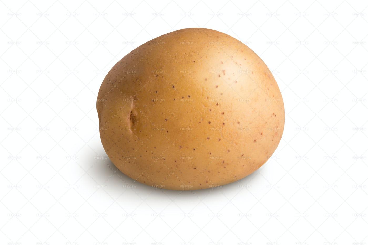 Potato Against White: Stock Photos