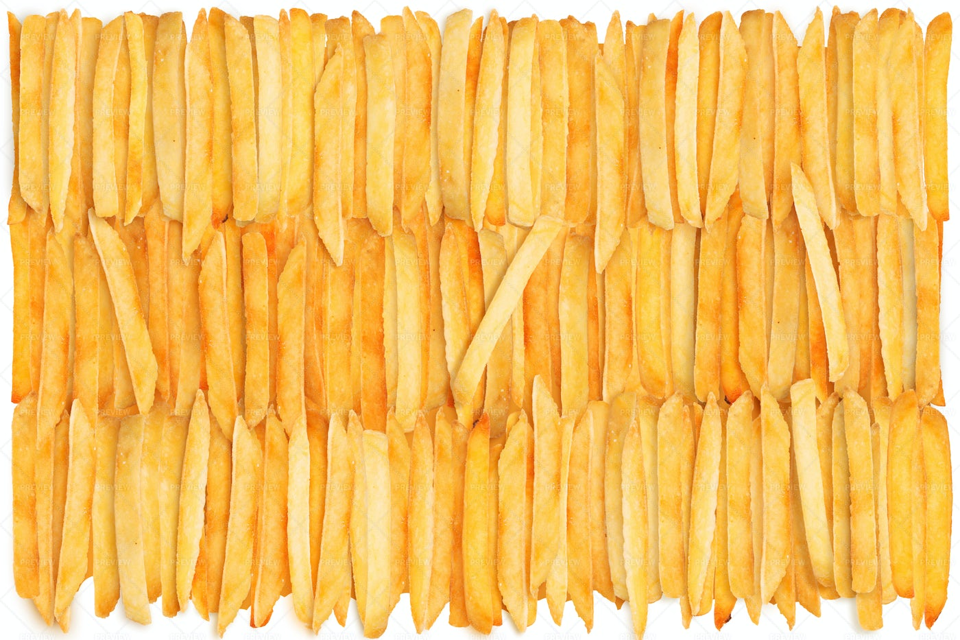 Rows French Fries: Stock Photos