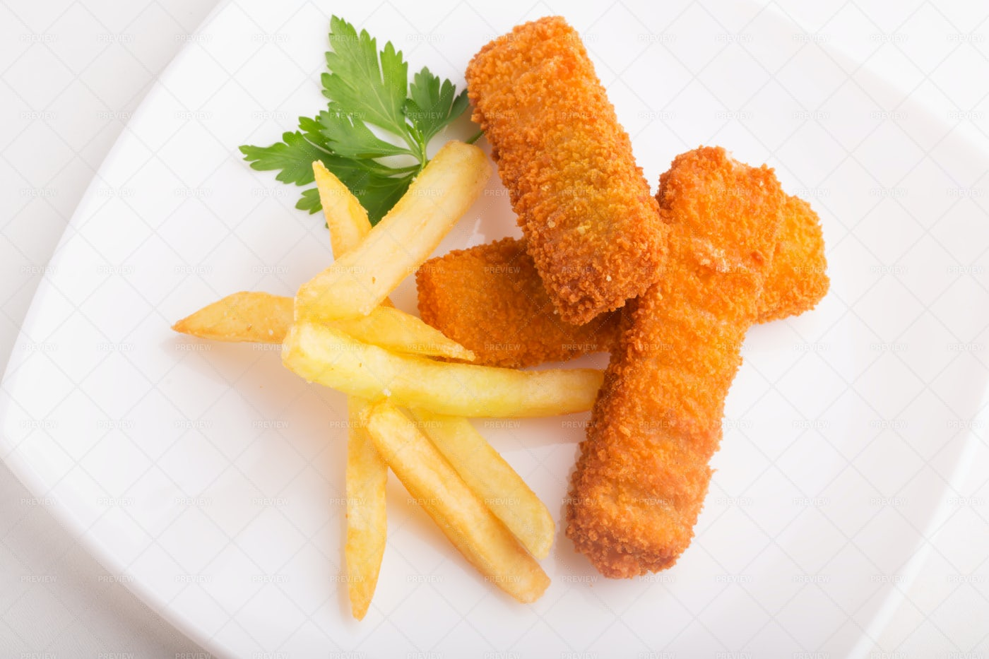 Fish Sticks And French Fries: Stock Photos