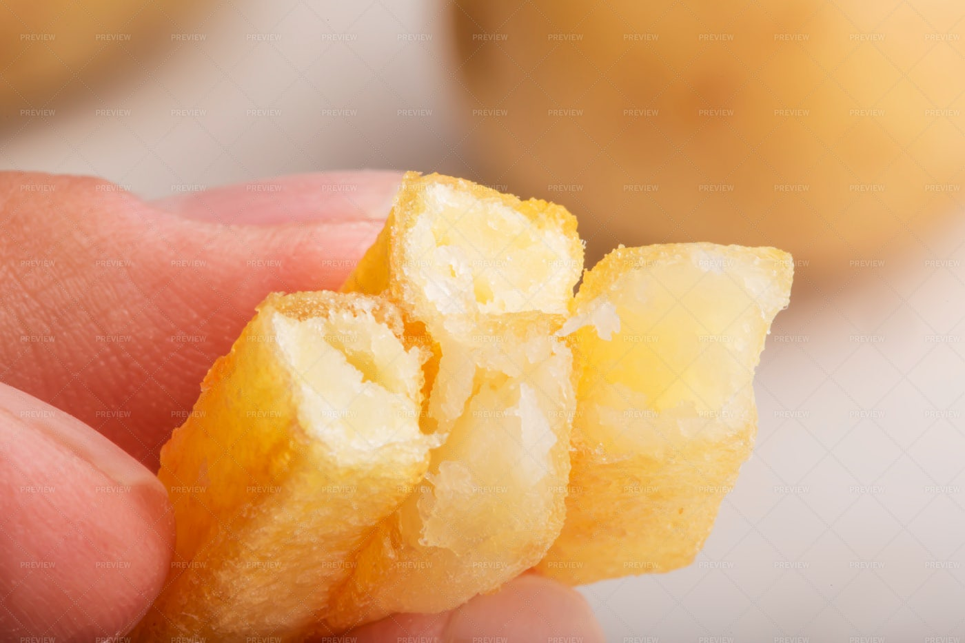 Holding French Fries: Stock Photos