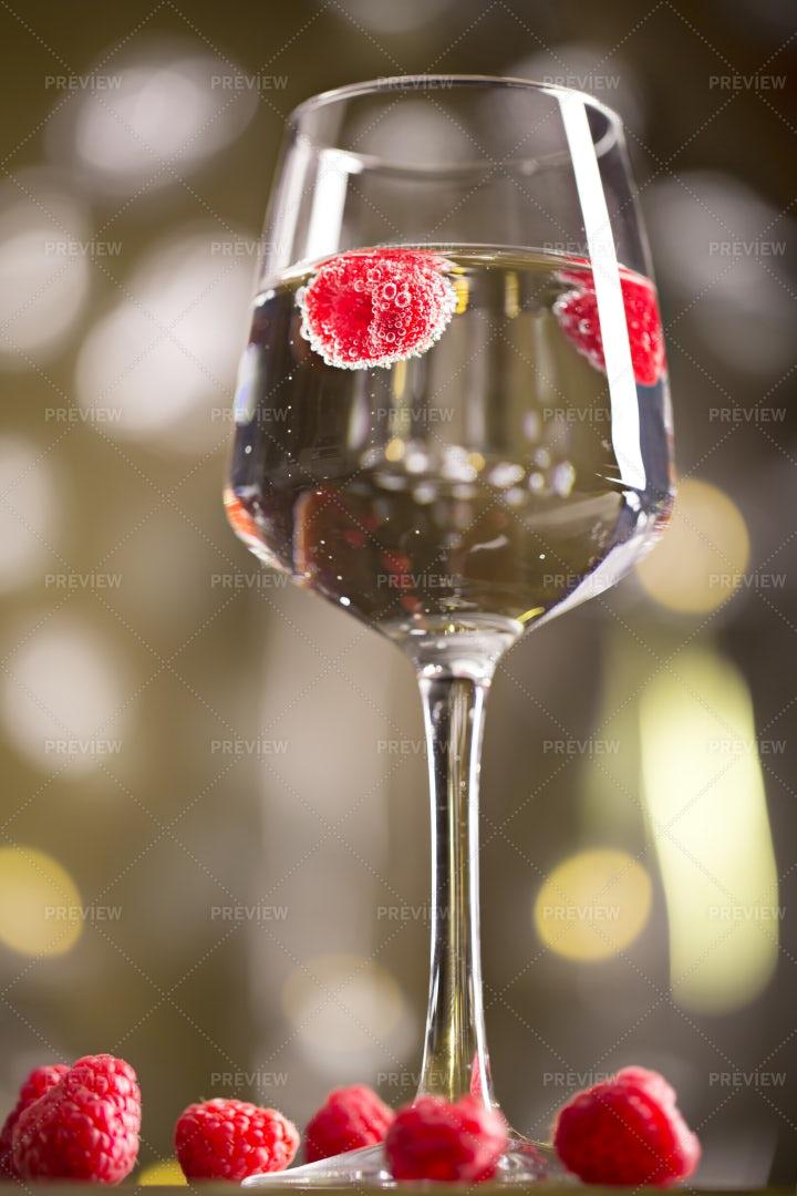 Raspberry Alcohol Cocktail: Stock Photos