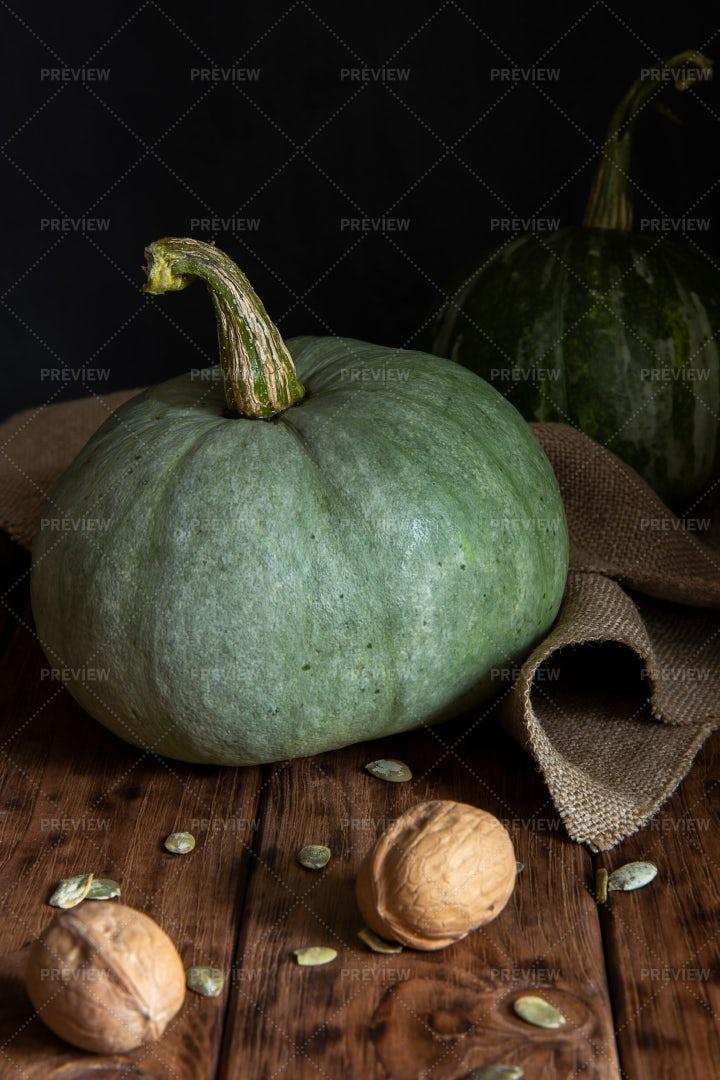 Green Pumpkins: Stock Photos