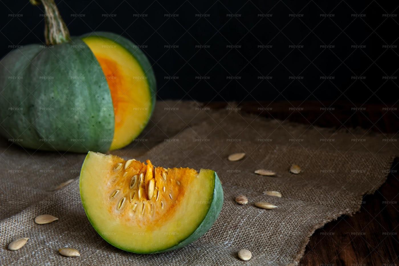 Pumpkin With Slice: Stock Photos
