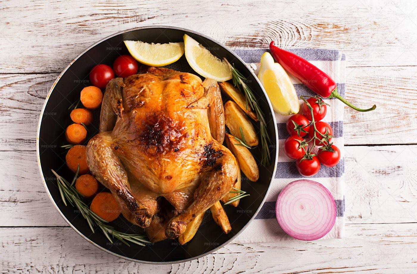 Roasted Chicken: Stock Photos