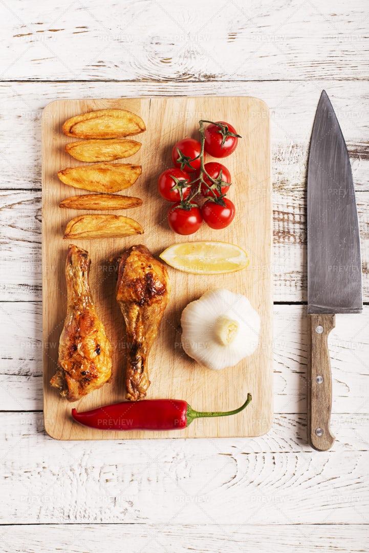Grilled Chicken: Stock Photos