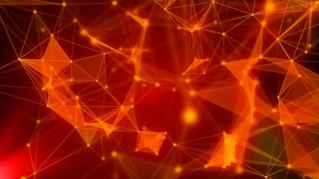 Red Digital Plexus: Stock Motion Graphics