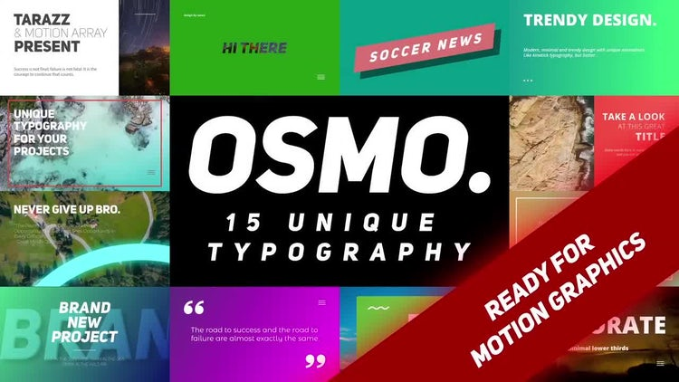 Osmo: After Effects Templates