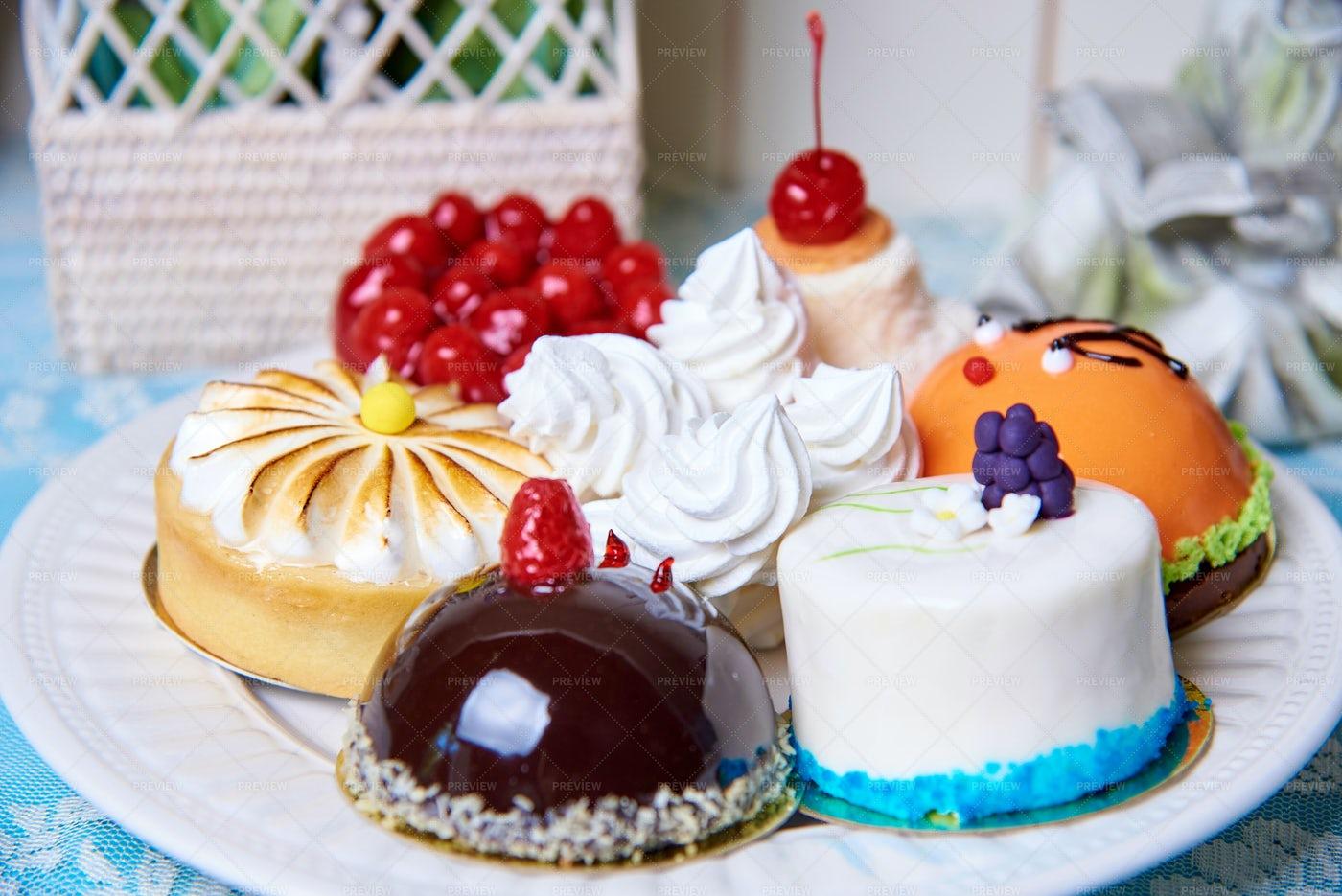 Variety Of Cakes: Stock Photos