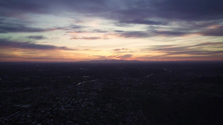 Sunset Time Lapse Over Phoenix From Squaw Mtn: Stock Video