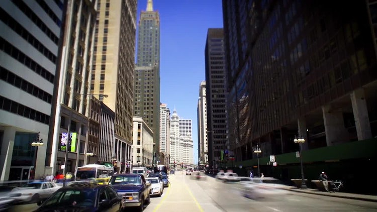 Street In Chicago: Stock Video