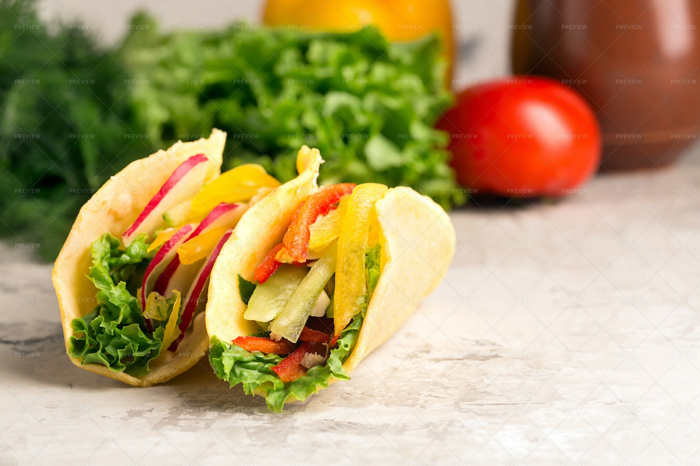 Taco With Vegetables: Stock Photos