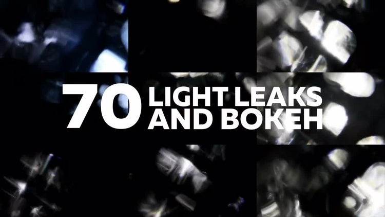 Light Leaks and Bokeh: Stock Video