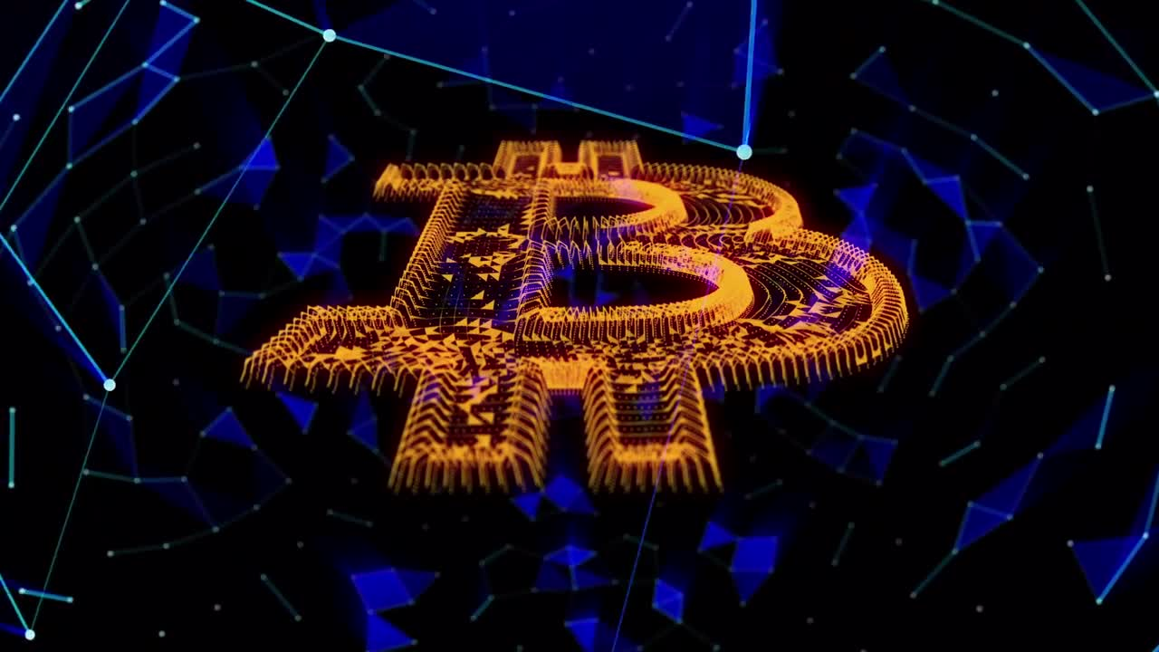 Bitcoin Cryptocurrency Background - Stock Motion Graphics