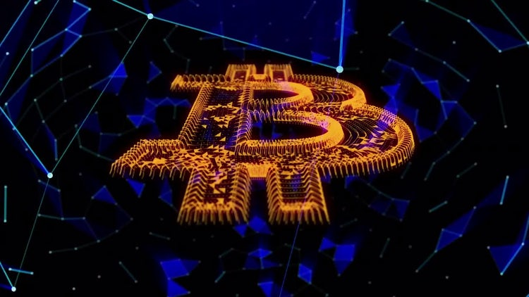 Bitcoin Cryptocurrency Background: Motion Graphics