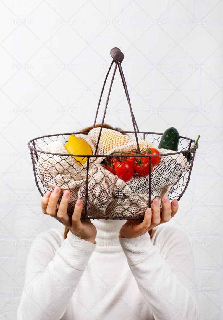 Basket Of Vegetables: Stock Photos