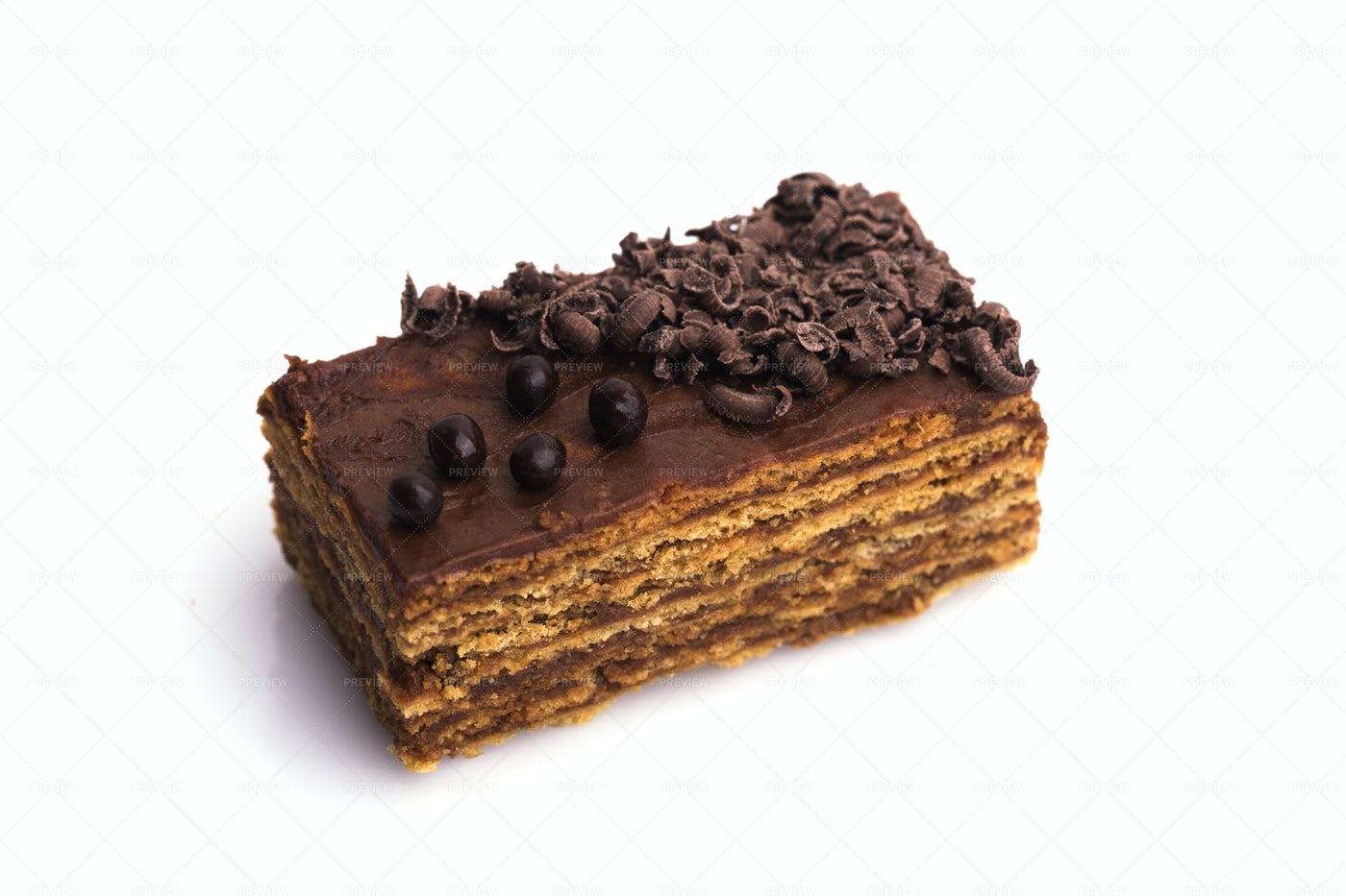 A Slice Of Chocolate Cake: Stock Photos