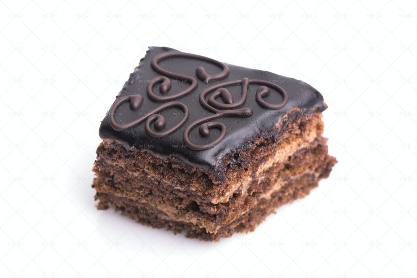 Canapes With Chocolate Icing: Stock Photos