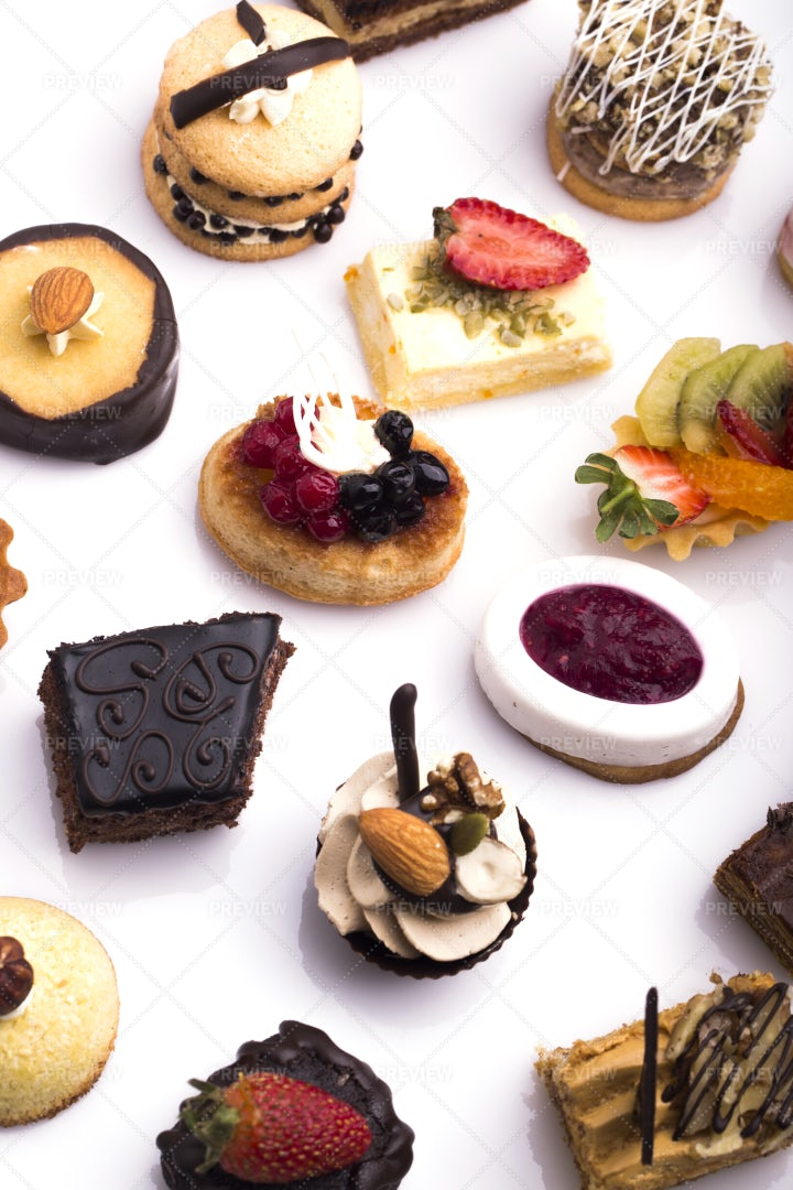 Variety Of Dessert Canapes: Stock Photos