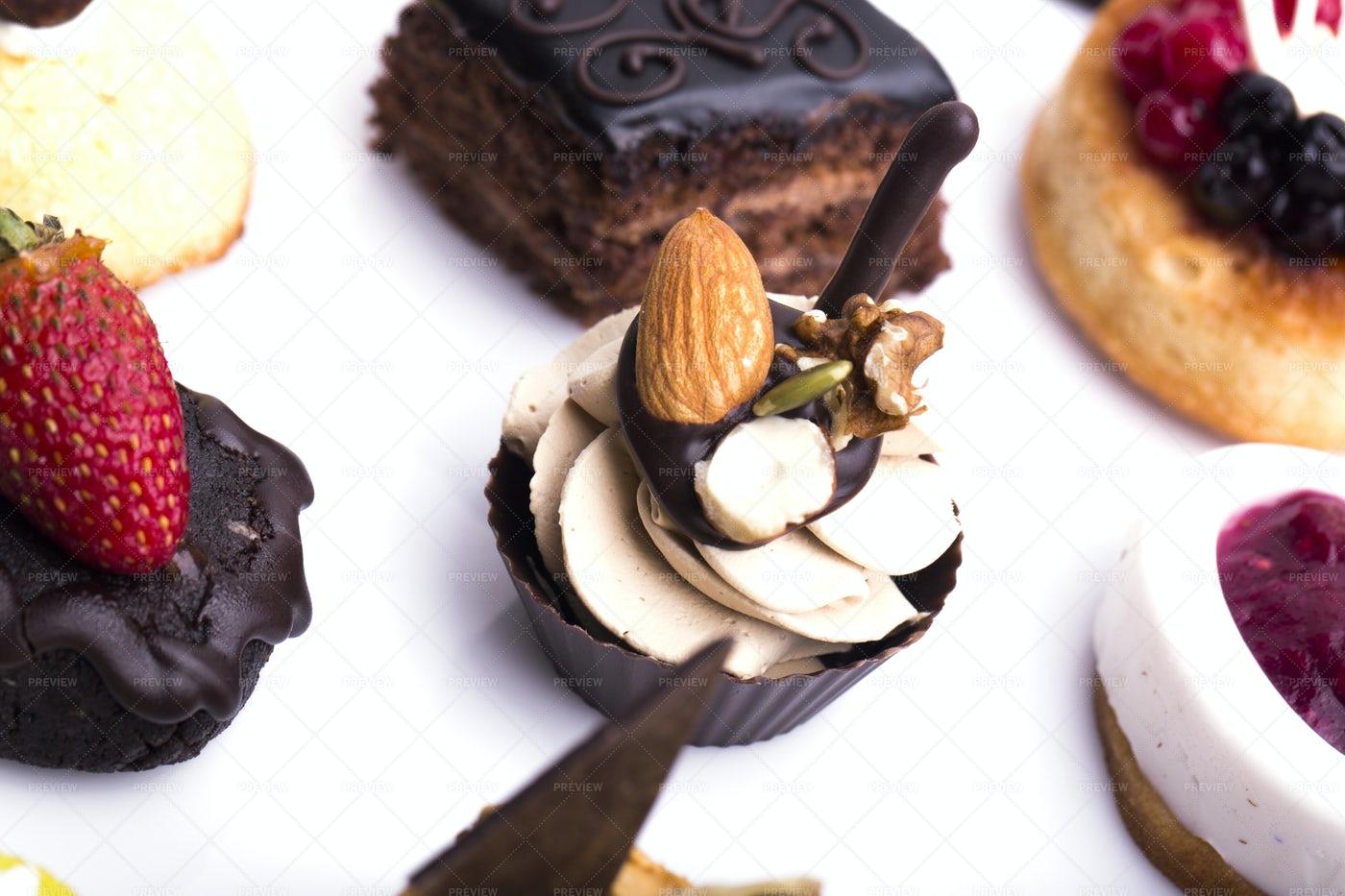Many Sweet Canapes: Stock Photos