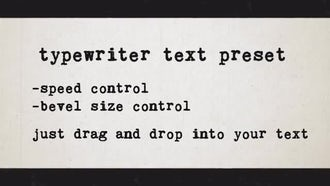 Typewriter Text Preset: After Effects Templates