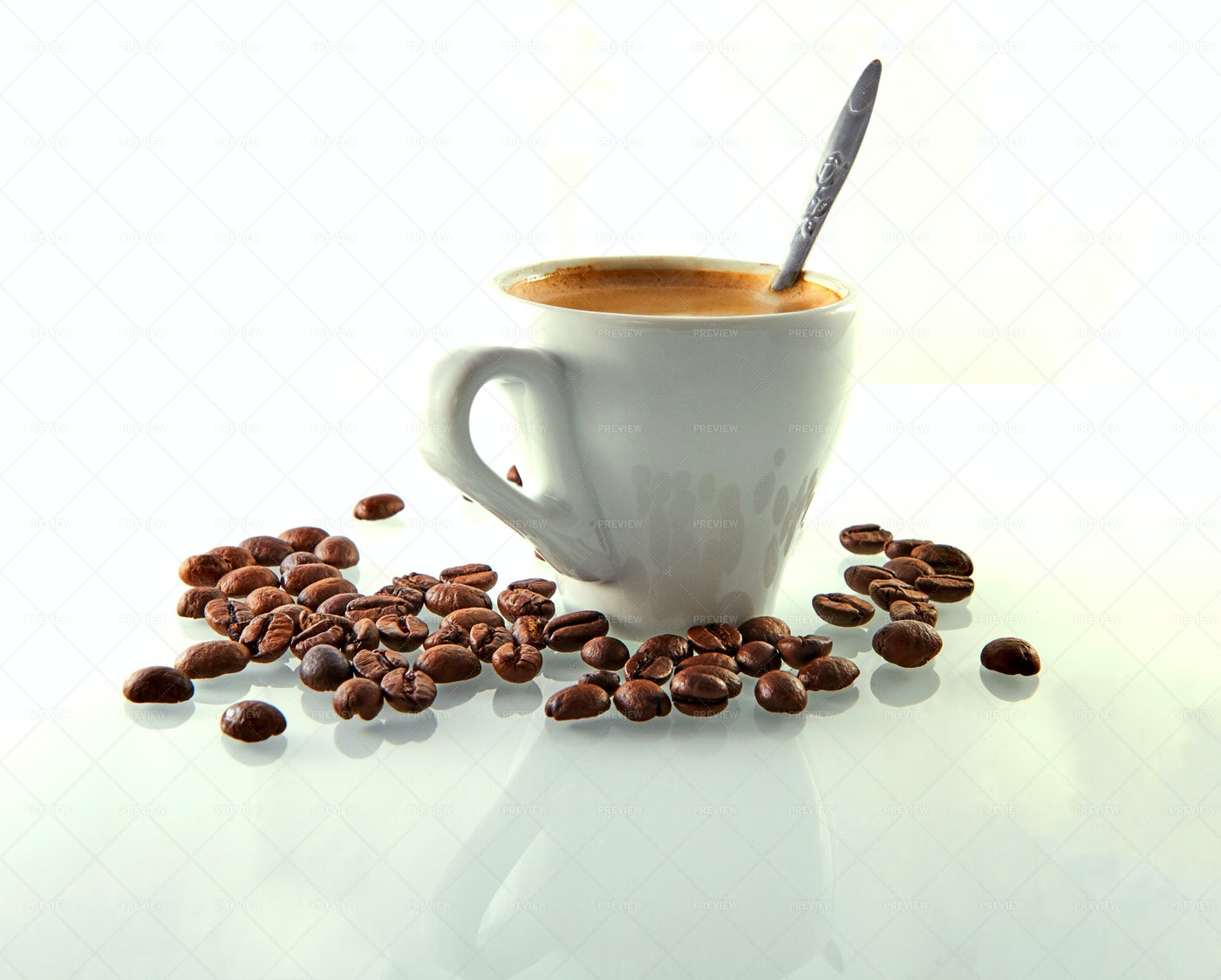 Coffee With Coffee Beans: Stock Photos