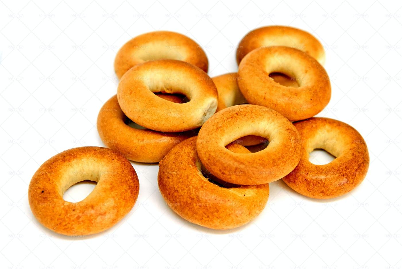 Golden Brown Bagels: Stock Photos