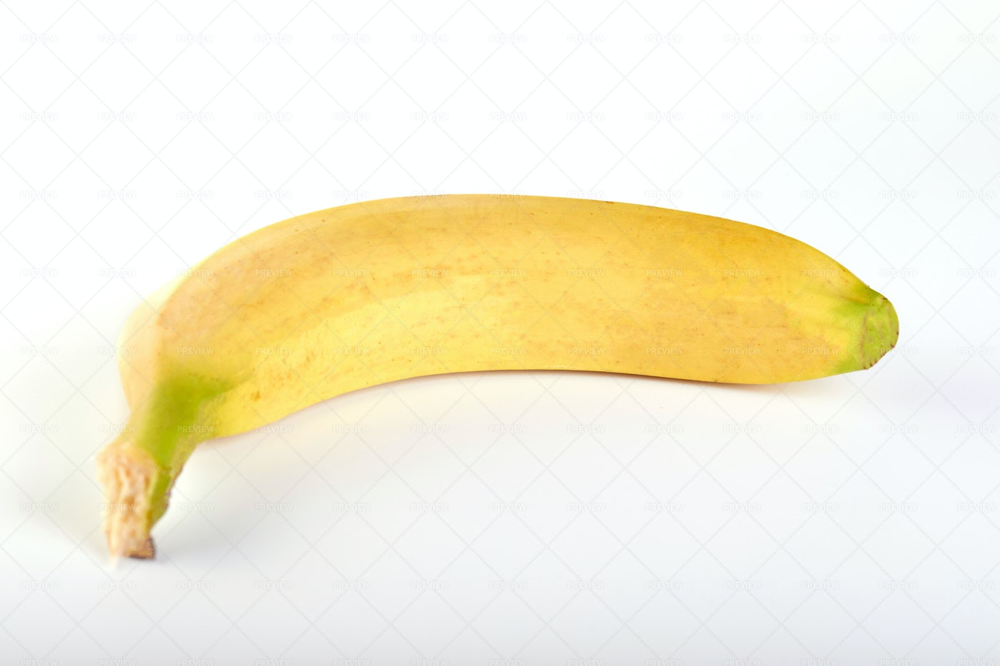Single Banana On White: Stock Photos