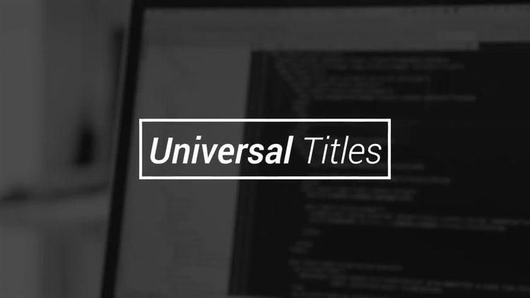 Universal Titles: Premiere Pro Templates