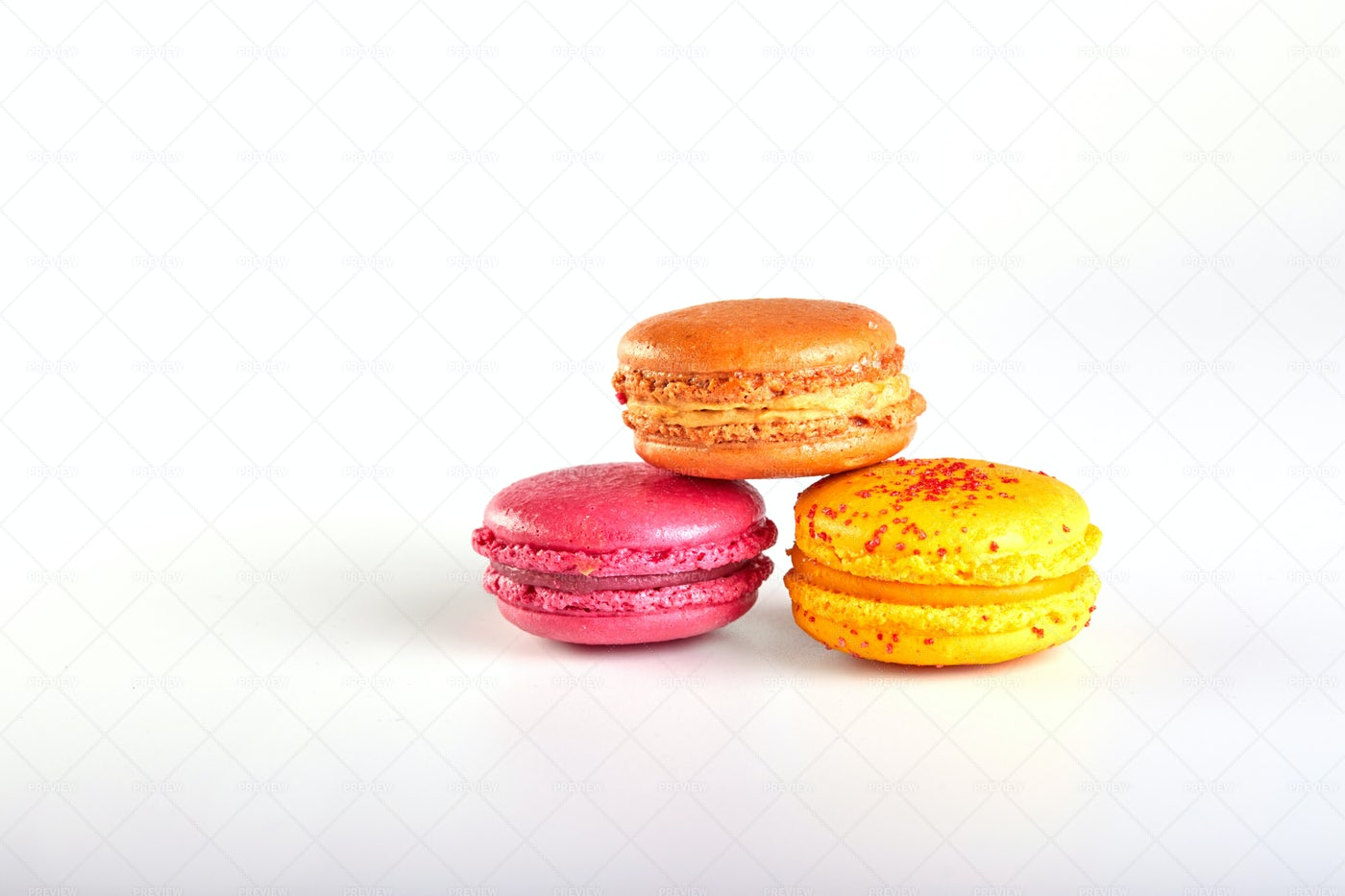 Colourful French Macaroons: Stock Photos