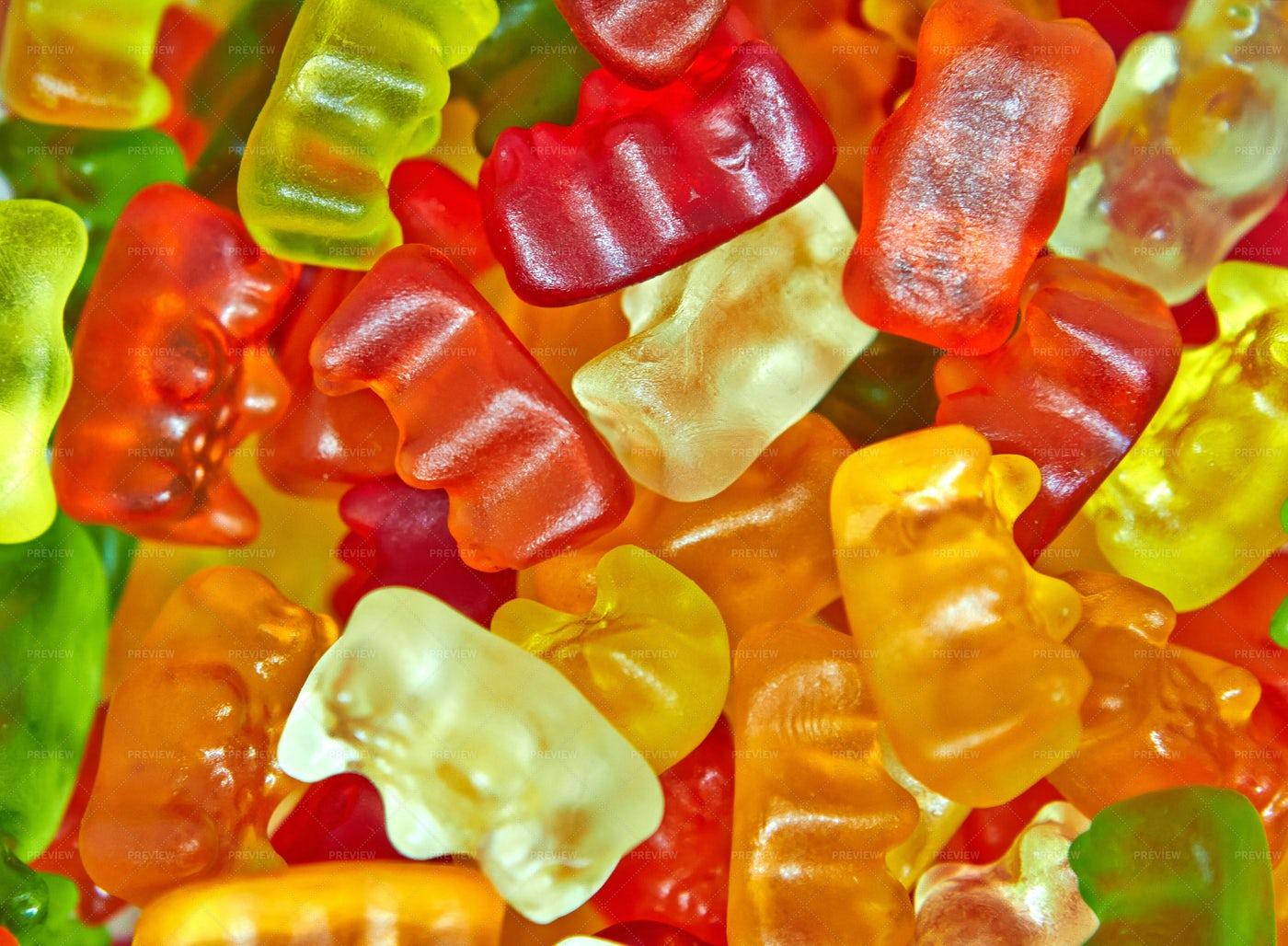 Pile Of Gummy Bears: Stock Photos